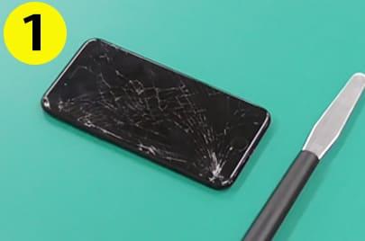 iPhone修理の手順1
