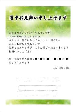 暑中見舞いはがき印刷 SNBT-004