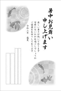 暑中見舞いはがき印刷 SNKT-002