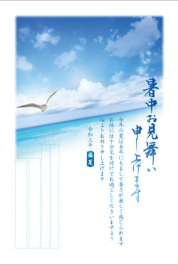 暑中見舞いはがき印刷 SNT-006