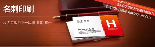 名刺カラー片面印刷